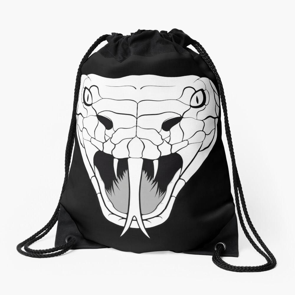 Snake head line-art Drawstring Bag