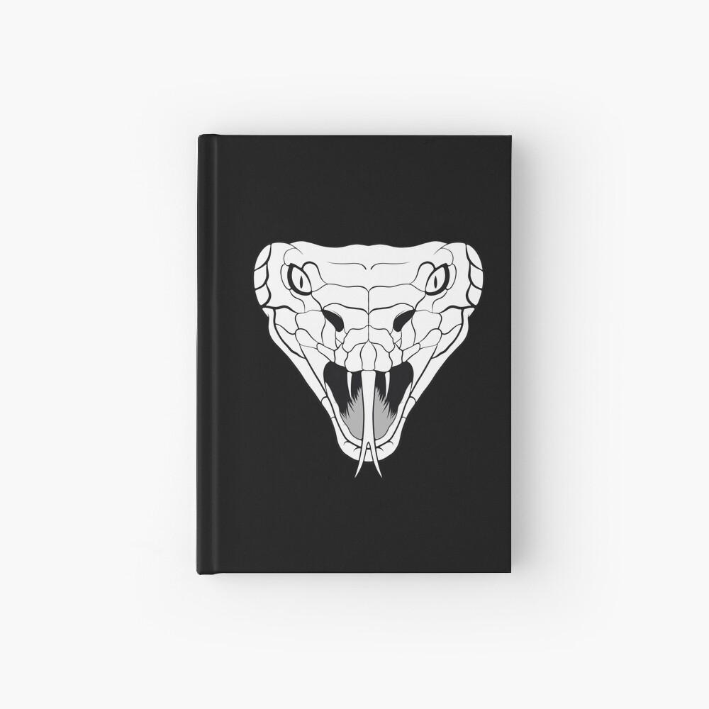 Snake head line-art Hardcover Journal