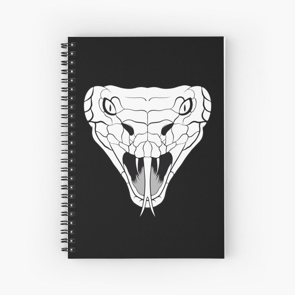 Snake head line-art Spiral Notebook