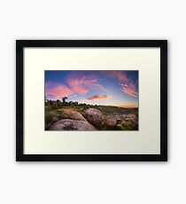 Red Hill Sunset Framed Print