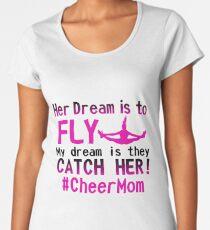 cheer mom #cheermom cheerleading Women's Premium T-Shirt