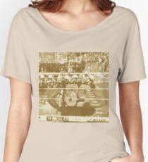 2015 SUPER BOWL, sepia photo, abstract art Women's Relaxed Fit T-Shirt