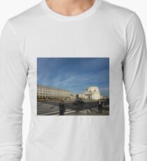 Urban Geometry - Warsaw Poland Long Sleeve T-Shirt