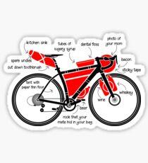 Bikepacking Funny Gear List Sticker
