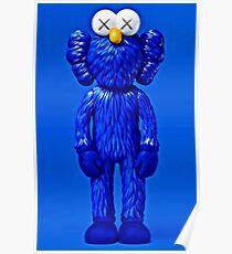 Kaws blue vynl Poster