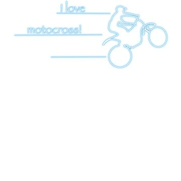 I love motocross t-shirt 1 (neon logo) by Spartiatis75