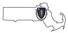 Massachusetts State Flag by Sun Dog Montana