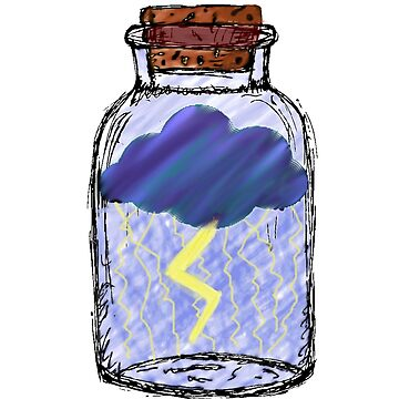 Thunderstruck Jar by ClaireLouise24