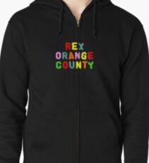 REX ORANGE COUNTY TSHIRT Zipped Hoodie