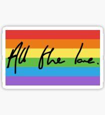 All the Love Pride Flag Design Sticker