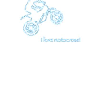 I love motocross t-shirt 2 (neon logo) by Spartiatis75