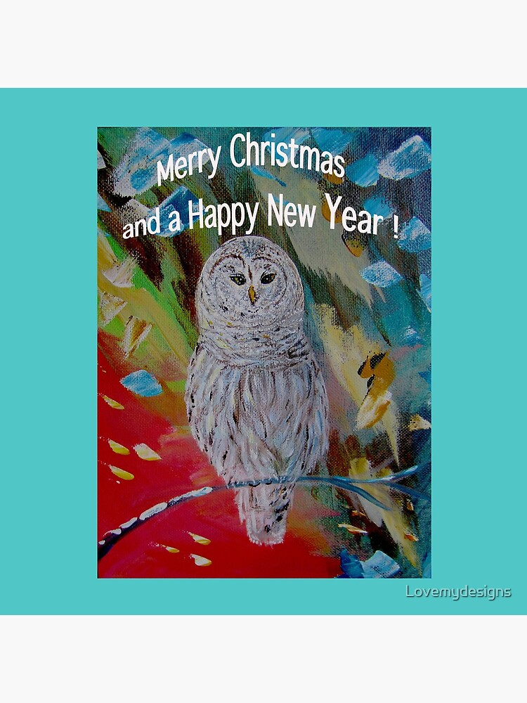 White owl. Christmas design by Lovemydesigns