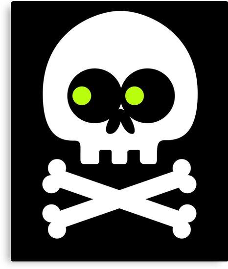 """Skull Crossbones Emoji"" Canvas Prints By Vomaria"