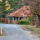 At the end of the lane is Louis Beyers cottage. by Ian Ramsay