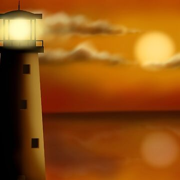 Lighthouse in the evening by Spartiatis75