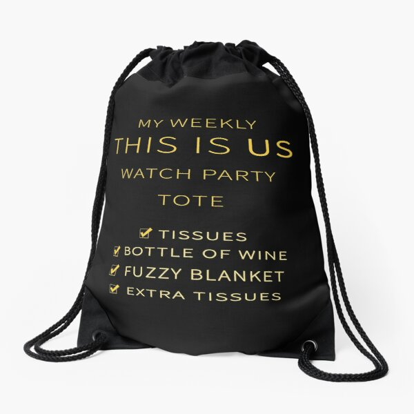 My Weekly This Is Us Watch Party Tote Drawstring Bag