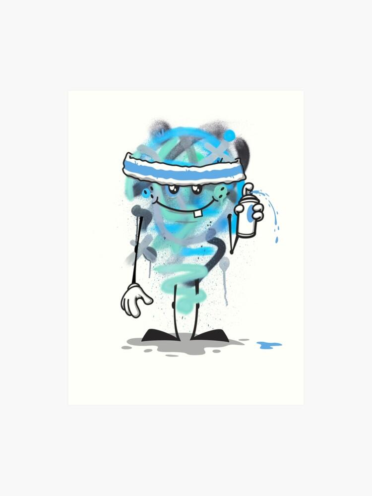 Cartoon Spray Paint Art