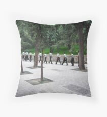 Soldiers Marching Throw Pillow