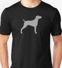 Weimaraner Silhouette(s) Unisex T-Shirt