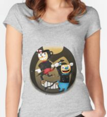 Cuphead vs. the Ink Devil Women's Fitted Scoop T-Shirt