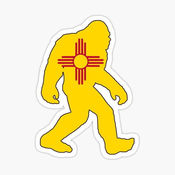 New Mexico flag bigfoot yeti sasquatch Sticker