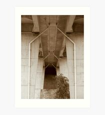 The Temple Under the Bridge. Art Print