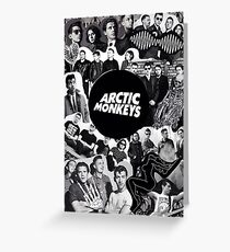 Arctic Monkeys Collage Greeting Card