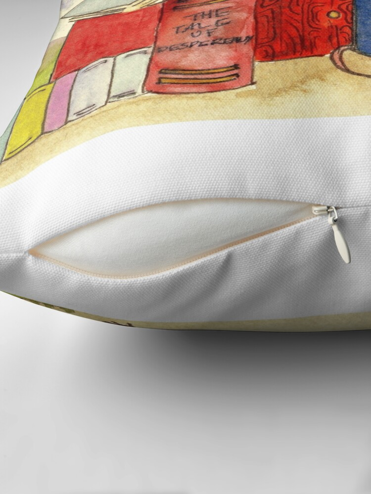 Alternate view of The Mouse's Bookshop Throw Pillow