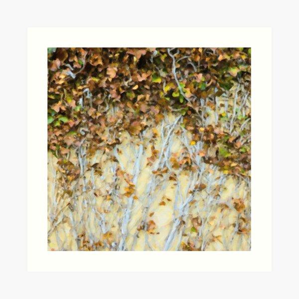 Leaves on Wall Art Print