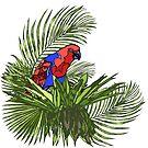 Rainforest Retreat: Eclectus by Aakheperure