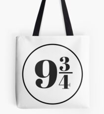 Platform Nine and Three Quarters Tote Bag