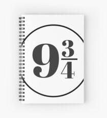 Platform Nine and Three Quarters Spiral Notebook