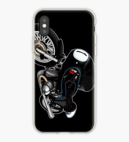 Motorcycle T-shirts Art: Black on Black iPhone Case