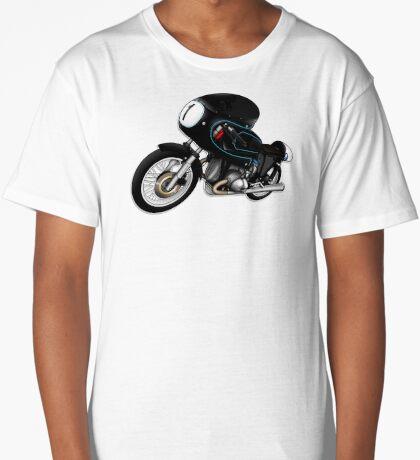 Motorcycle T-shirts Art: Black on Black Long T-Shirt