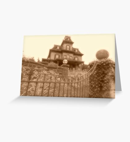 'Allez, Entrez....' Phantom Manor Greeting Card