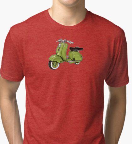Scooter T-shirts Art: LD 150 - 1955 vintage scooter illustration Tri-blend T-Shirt