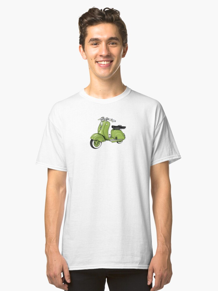 Scooter T-shirts Art: LD 150 - 1955 vintage scooter illustration Classic T-Shirt Front
