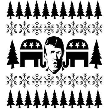 GOP Donald Christmas Sweater by Gaill