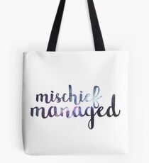 Galaxy Mischief Managed Tote Bag