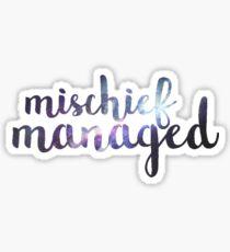 Galaxy Mischief Managed Sticker