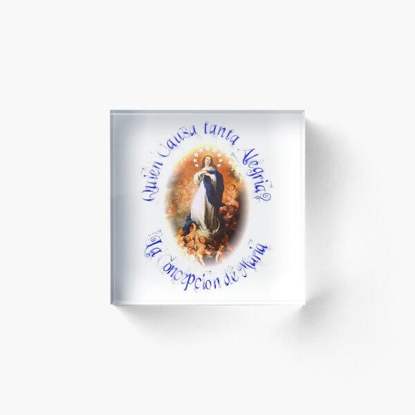 Nicaragua T-Shirt La Purisima Inmaculada Immaculate Heart  Acrylic Block