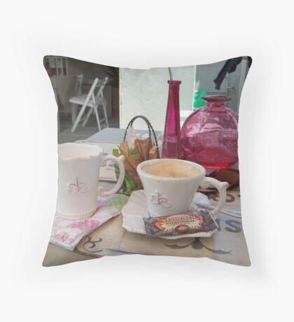 My daily fix at Bistrot de Paris and Une Belle-Vous Throw Pillow
