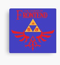 The Legend of Frontend Canvas Print