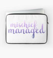 Purple Mischief Managed Laptop Sleeve