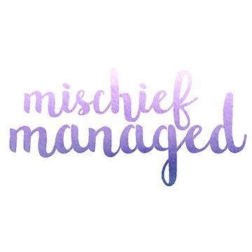 Purple Mischief Managed by annmariestowe