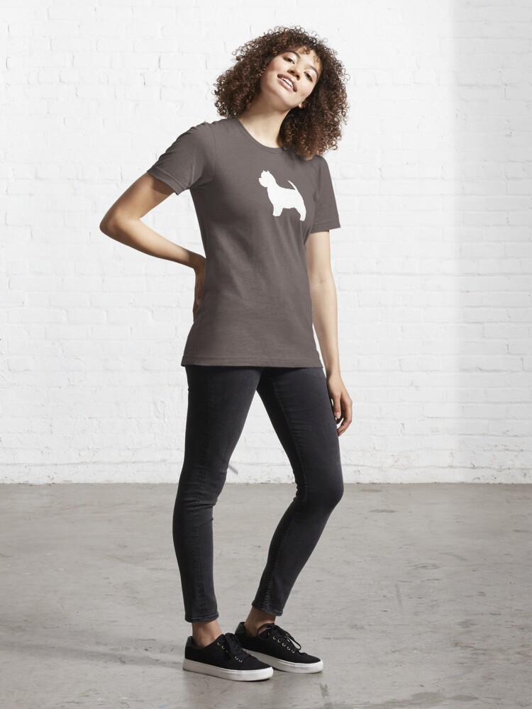 Alternate view of West Highland White Terrier Silhouette(s) Essential T-Shirt