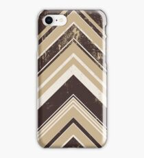 Geometric Geode - Beige/Black Distressed iPhone Case/Skin