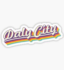 Daly City | Retro Rainbow Sticker