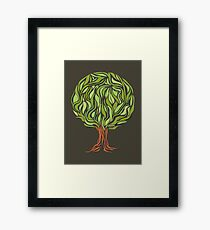 Illusion  tree Framed Print
