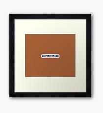Empire State | Retro Badge Framed Print